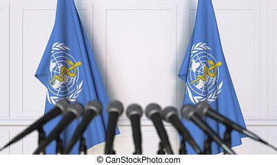 World Health Organization WHO official press conference....