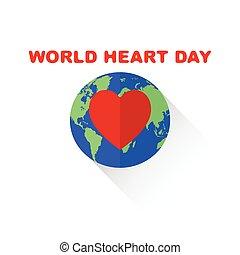 World Heart Day isolated on white vector illustation.