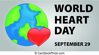 World heart day poster design