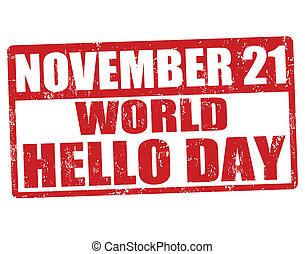 World Hello Day stamp
