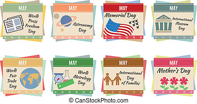 World holidays. May. For you design