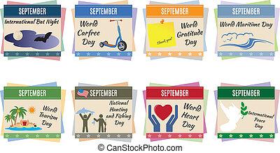 World holidays. September