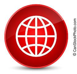 World icon elegant red round button