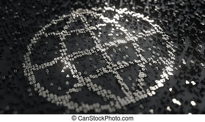 World icon made of silver numbers - World or Earth globe ...