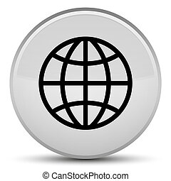 World icon special white round button