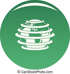 World icon vector green