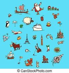 World Illustrations Set No. 3: Europe