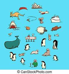 World Illustrations Set No. 6: Australia and Antarctica