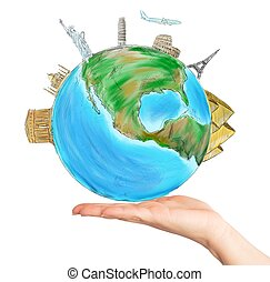 World in one hand - Have the whole world in one hand