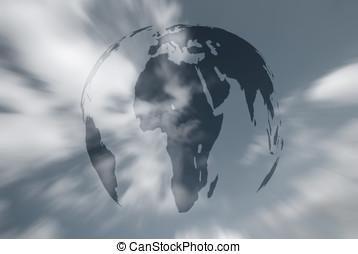 World in sky