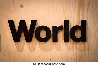 World in Wood Type