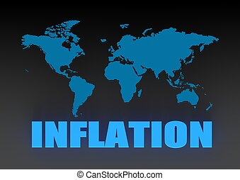 World inflation - Rendered artwork with white background