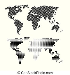 world infographic dotted map information network