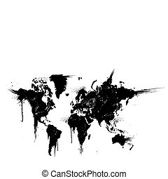World ink splatter vector illustration