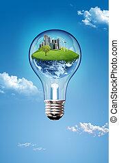World Inside Bulb
