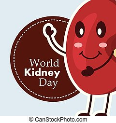 world kidney day card medical awareness care