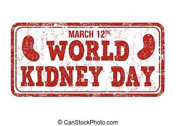 World kidney day stamp