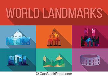World landmarks, famous buildings