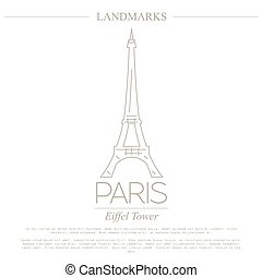 World landmarks. Paris. France