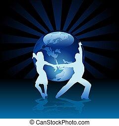 World Latino Dance - detailed colored illustration