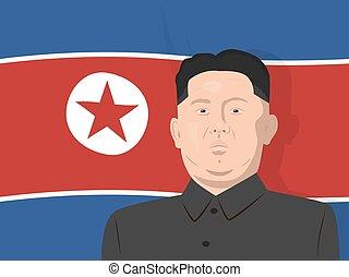 02.12.2017 Editorial illustration of the supreme leader of the North Korea Kim Jong-un