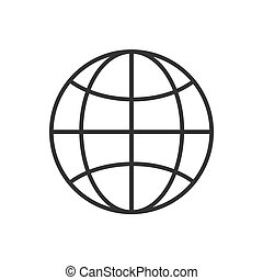 World line icon on a white background