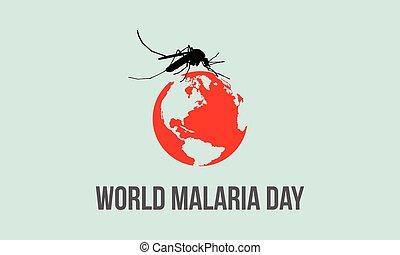 World Malaria Day background