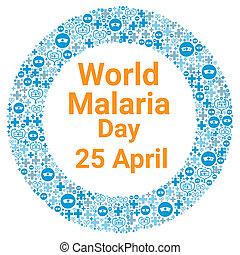 World malaria day illustration