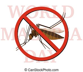 World malaria day poster with no mosquito