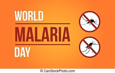 World Malaria Day Sign