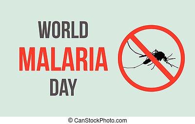 World Malaria Day style background
