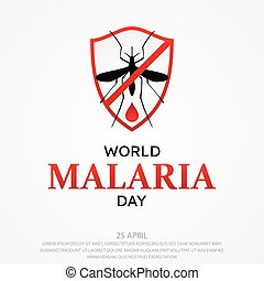 World Malaria Day vector background letter for element design on the white background. International holiday concept design vector. Vector illustration EPS.8 EPS.10