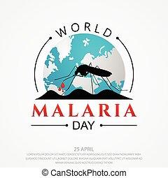World Malaria Day vector background letter for element design on the white background. International holiday concept design vector. Vector illustration EPS.8 EPS.10