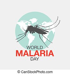 world malaria day, vector illustration,flat design