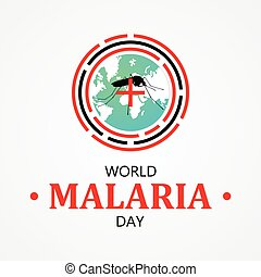 World Malaria Day vector letter for element design. International holiday concept design vector. Vector illustration EPS.8 EPS.10