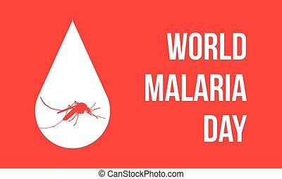 World Malaria Day with mosquito