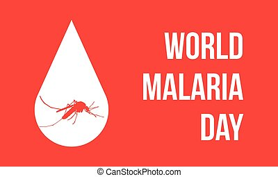 World Malaria Day with mosquito