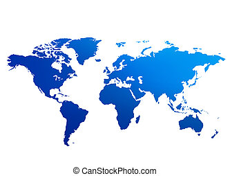 A map of the world illustration An unfolded map of the world