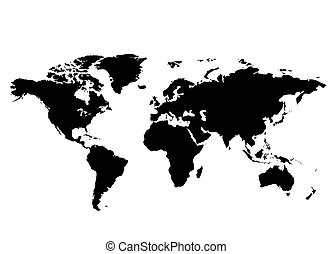 World Map - A map of the world illustration An unfolded map...