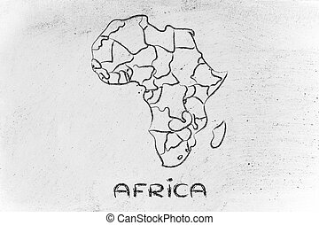 World map and continents borders and states of africa clipart world map and continents borders and states of africa gumiabroncs Choice Image