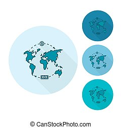 World map and money business and finance single flat icon world map and money gumiabroncs Image collections