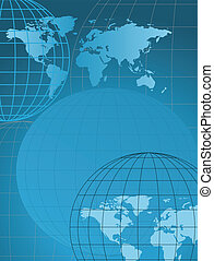 World Map - Background with globe and map