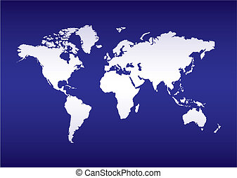 world map blue ocean - illustrated World map of the earth...