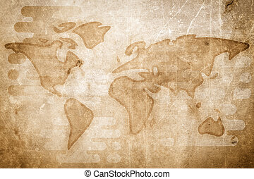 Globe icon hand drawn style globe icon hand drawn pictures world map cartoon textured flat illustration gumiabroncs Choice Image