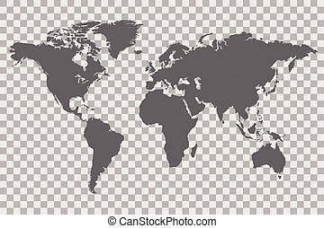 World Map Checker Background