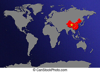 World map china vs usa stock illustrations search eps clipart world map china gumiabroncs Gallery