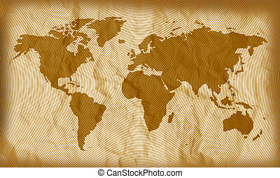 World Map Circles