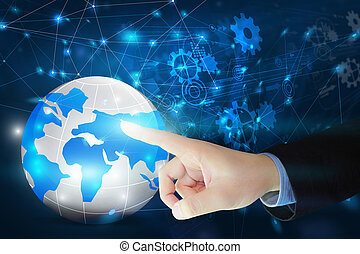 World map connected. Social network concept. globalization business.