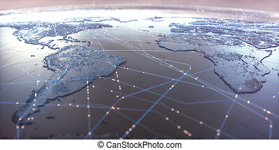 World Map Connectivity