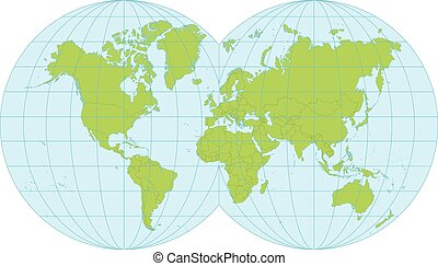Multicolored simplified world map divided to continents eps detailed map of the world divided into countries gumiabroncs Choice Image